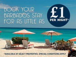 £1 per night Barbados Only Special Image