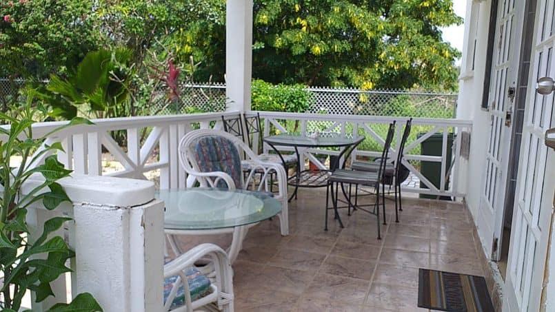 Balcony ground floor, Sea Coast Villas Barbados